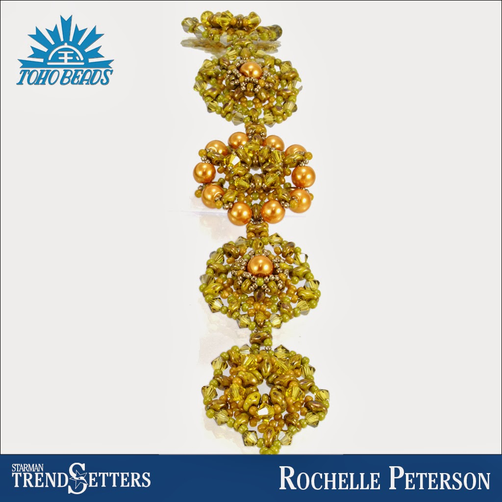 Beaded SuperDuo bracelet by Starman TrendSetter Rochelle Peterson
