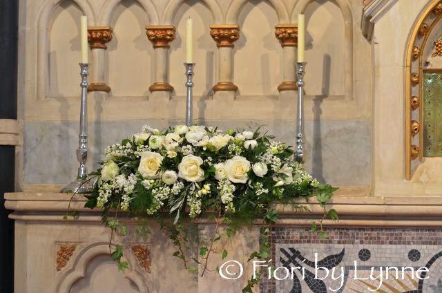 Wedding Flowers: altar church flowers for wedding