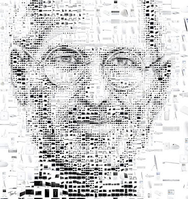 Steve Jobs Portraits Made From Apple Products  Seen On www.coolpicturegallery.us