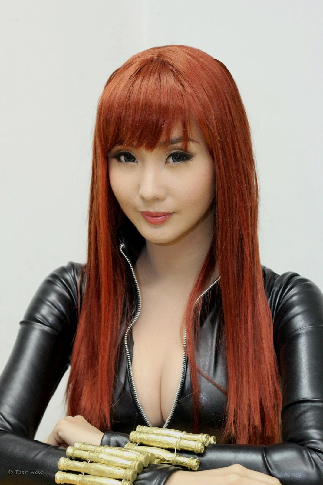 alodia gosiengfiao sexy black widow cosplay 03