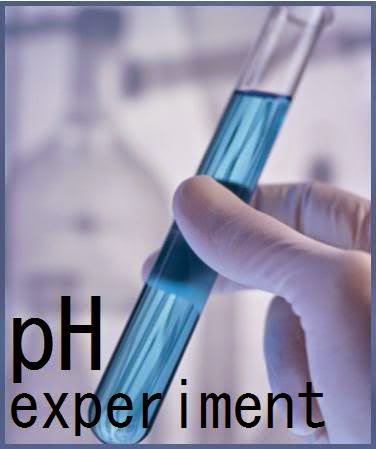pH Experiment shws ble quid in test tube
