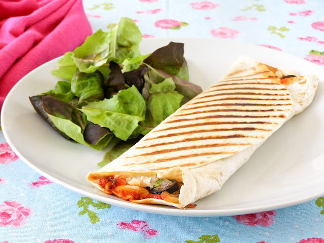 Vegan Grilled Roasted Vegetable Pizza Wrap