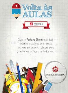 """Shoppings do Grupo Partage promovem Campanha Social """"Volta às Aulas"""""""