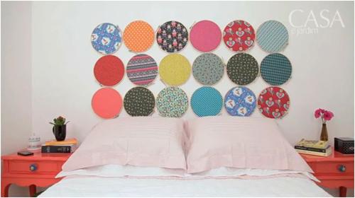 I d e a decorar con bastidores - Decorar cabeceros de cama ...