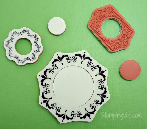Use these leftover rubber pieces for stamping!