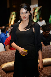 Actress Sakshi Chowdary Pictures in Black Tights at Doosukeltha Telugu Movie Music Launch  0005