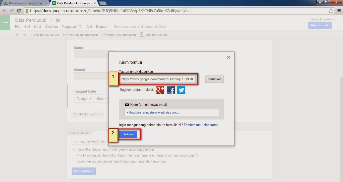 Cara Membuat Form Input Data Dan Database Menggunakan Google Drive