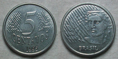 brazil 5 centavos 1995