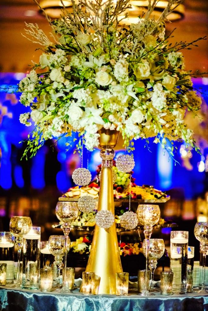 Gold centerpieces wedding reception stuff ideas