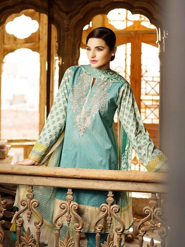 New Khaadi Spring Formal Wear Dresses 2015 8