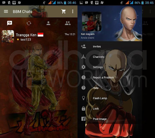 Preview BBM One Punch Man - BBM Android V2.10.0.35
