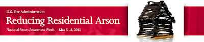 link to reducing arson information from the US Fire Administration