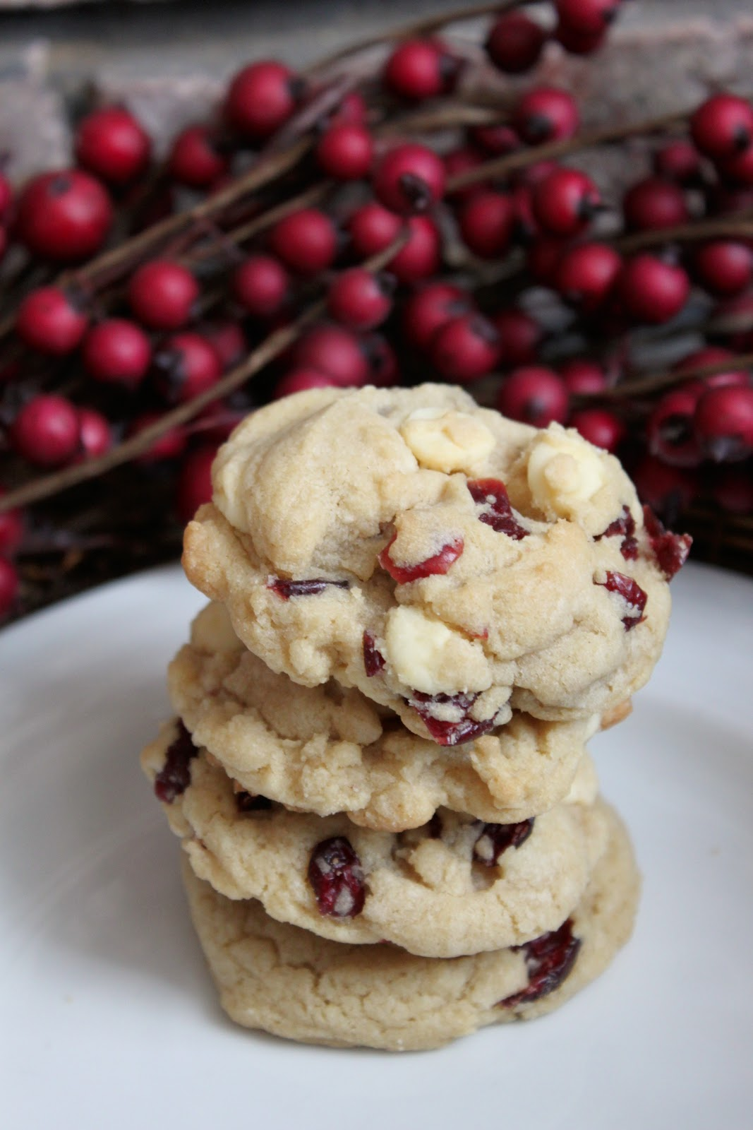 In The Pink & Green: White Chocolate Chip Cranberry Cookies