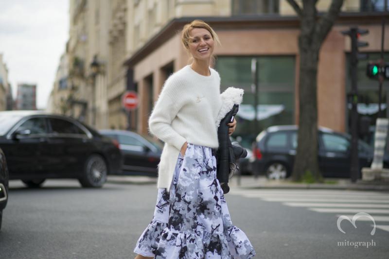 Elena Kibalchich attends to Chloe show during Paris Fashion Week 2014 Fall Winter PFW