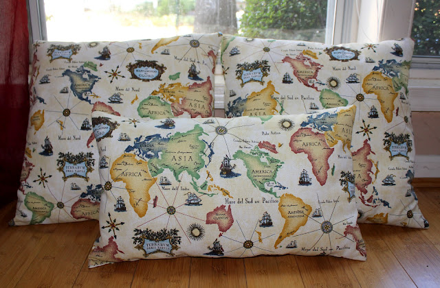 DIY World Map Pillows