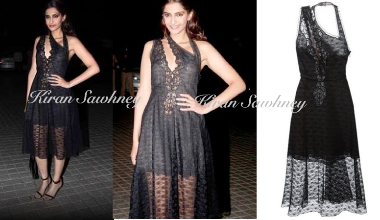 Sonam Kapoor in Stella McCartney Asymmetrical dress at Farah's 50th Birthday bash