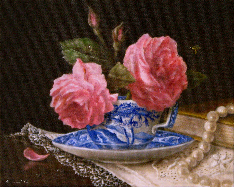 Jeanne Illenye Still Lifes Small 8x10 Classical Still Life Oil