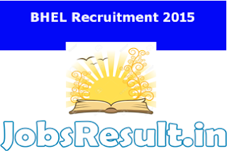 BHEL Recruitment 2015