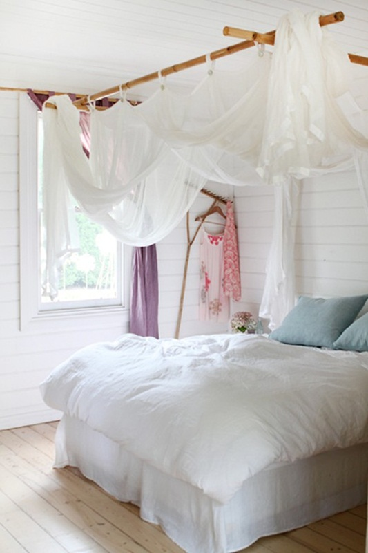 Dormitorio+blanco+bohemio
