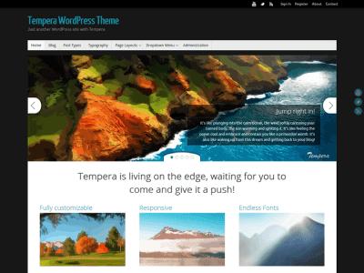 Tempera WordPress Theme