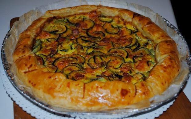 Torta Rustica con Zucchine, Prosciutto e Provola