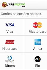 Aceito cartões de crédito
