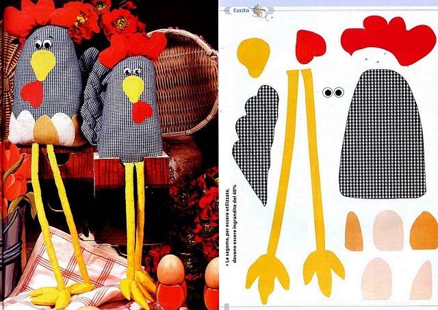 Adesivo De Parede Para Sala ~ ARTE COM QUIANE Paps e Moldes de Artesanato molde galinhas de tecido