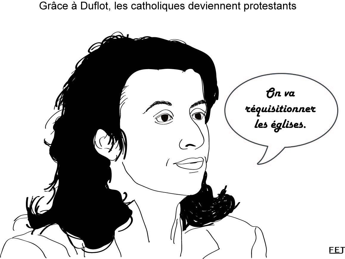 Cécile-Duflot-les-catholiques-deviennent-protestants-Réquisition-des-églises-fej-dessins