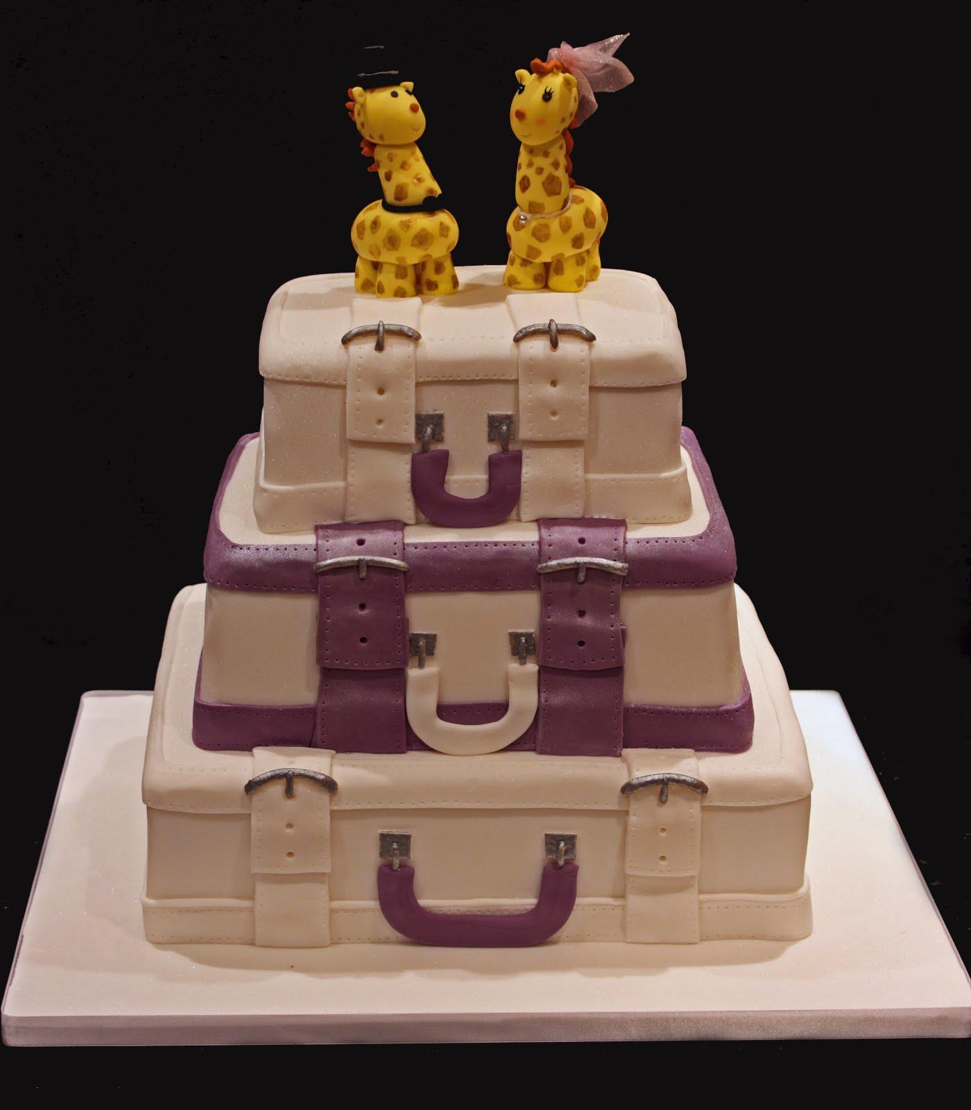 Suitcase Cakes Designs