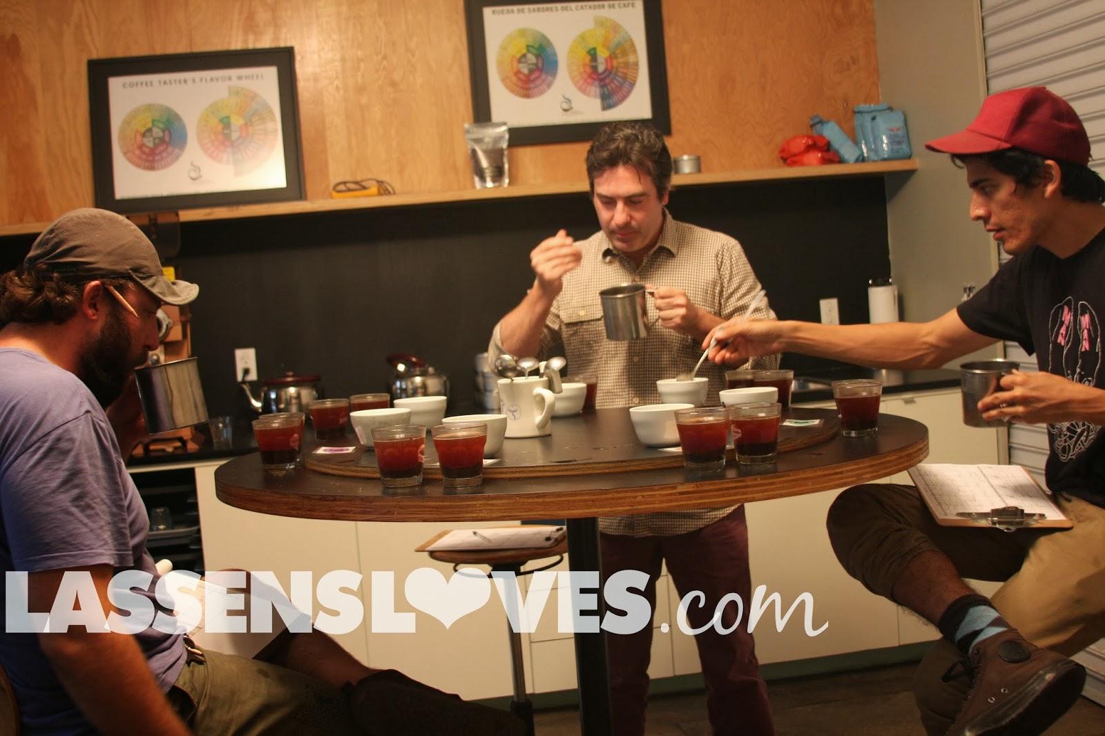 lassensloves.com, Lassen's, Intelligensia+Coffee, Coffee+Roasting, Coffee+tasting, Coffee+Cupping