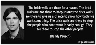 Randy Pausch quote about brick walls