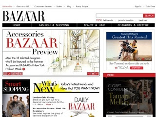 9 Harpers%2BBazzar 10 of the Most Popular Fashion Websites