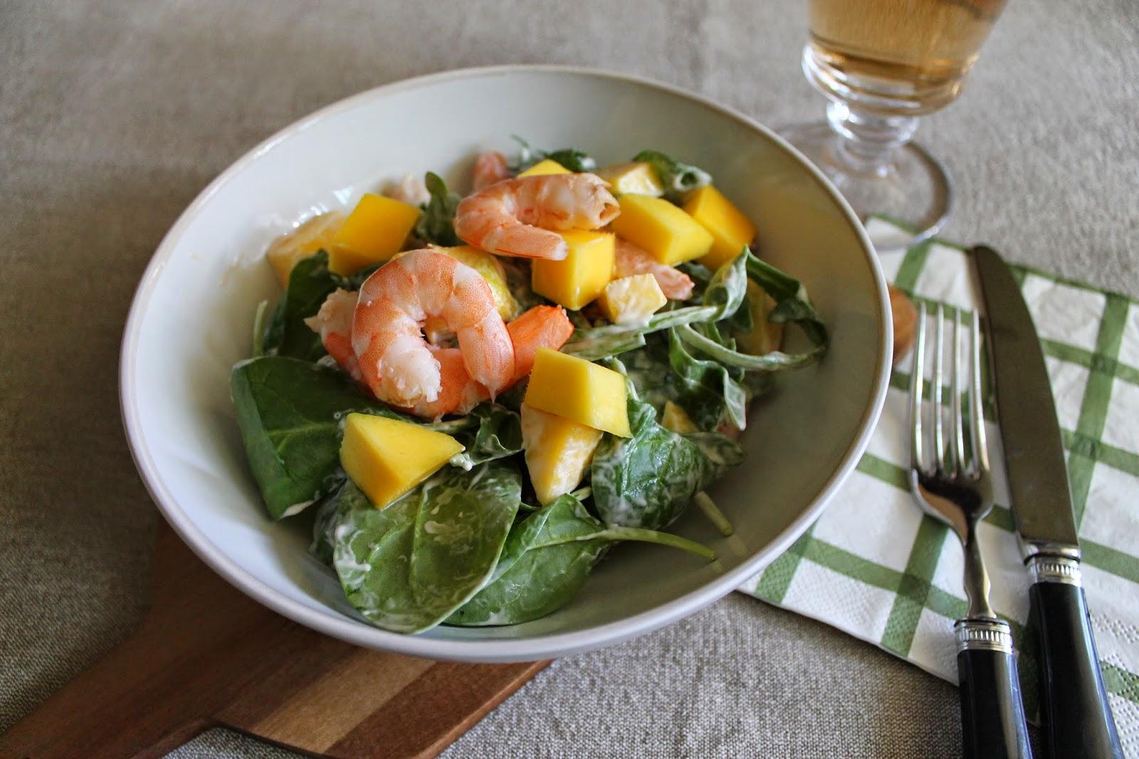 Principiando en la cocina ensalada de langostinos y mango - Ensalada de langostinos ...