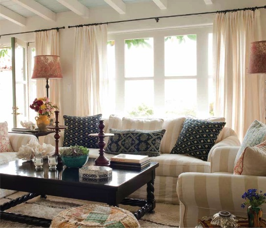 Her highly lauded laid-back style and affinity for the mix is well  documented, and her latest book, Timeless Interiors,