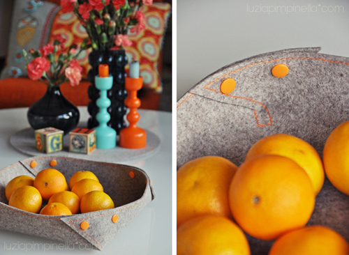 DIY+Felt+Basket+Tutorial+with+Buttons Bright Colours and Interior DIY Home Decor Tutorials from Luzia Pimpinella Blog