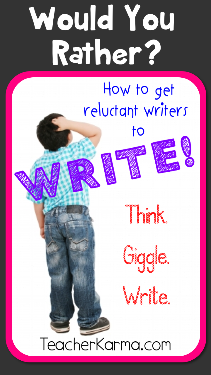 Would You Ever Visit A Card Teller If: Teacher Karma: FUN Strategy For Getting Reluctant Writers