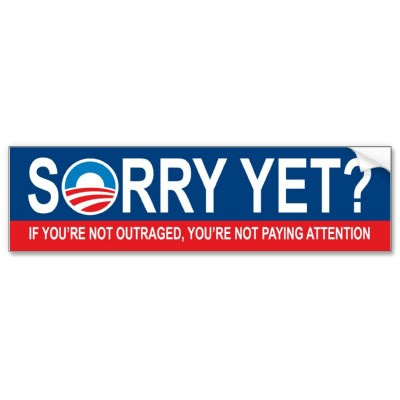 sorry yet anti obama bumper sticker p128588696921923212z7b7j 400 Funny Pictures: Obama Bumper Stickers, Signs & Jokes