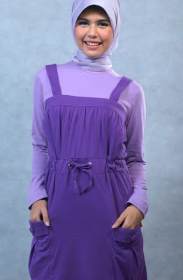 Actual Basic Busana Muslim Ungu Model Kedua