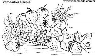cesta com morangos