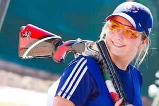 Amber Hill (Grã-Bretanha) - Skeet - BBC Young Sport Personality Award 2013 - Foto: ISSF/Reprodução
