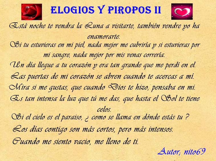 ELOGIOS Y PIROPOS II