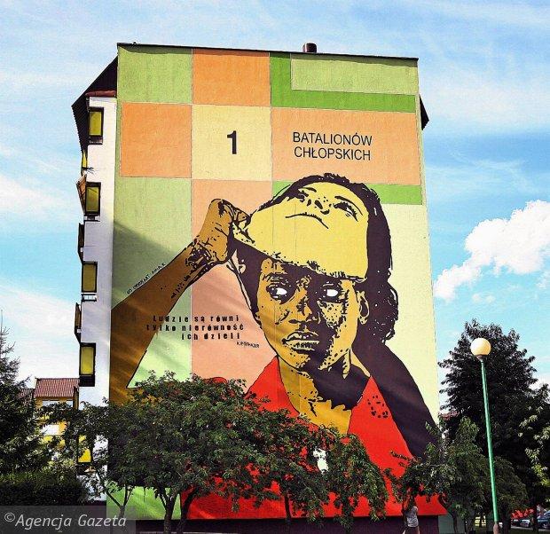 South italy street art for Mural bialystok dziewczynka z konewka