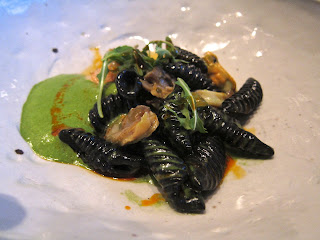Squid Ink pasta at Michael Mina SF