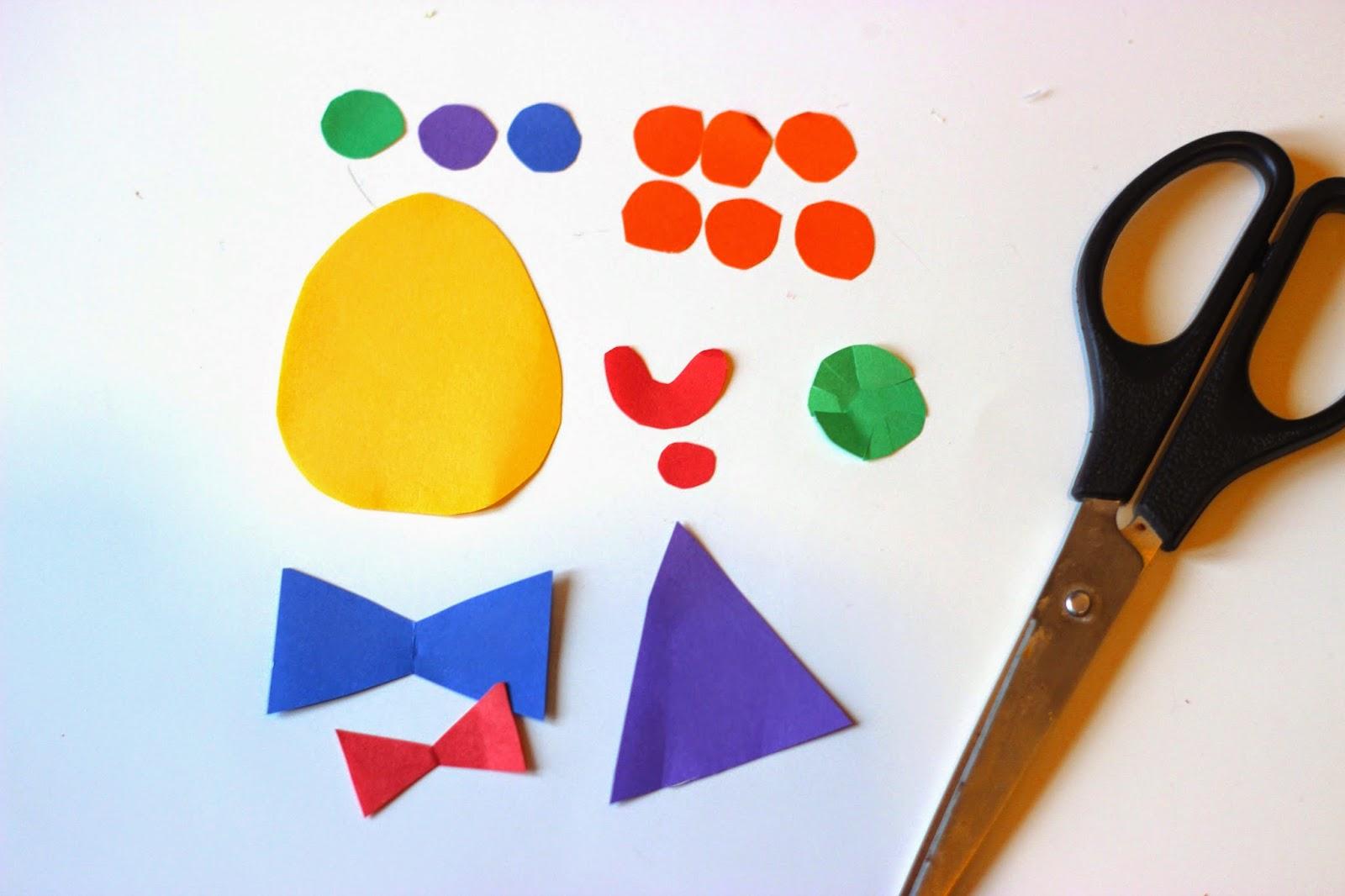 Как сделать клоуна из бумаги своими руками, мастер класс, схема 54