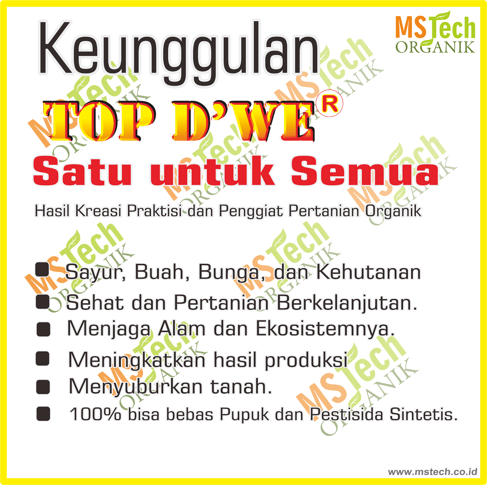 KEUNGGULAN PUPUK TOP DWE(R)