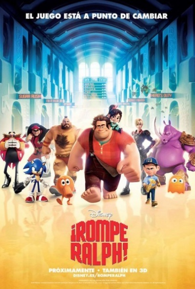 Nuevo póster de '¡Rompe Ralph!', de la factoría de Walt Disney Animation Studios. Revista Making Of. Cine