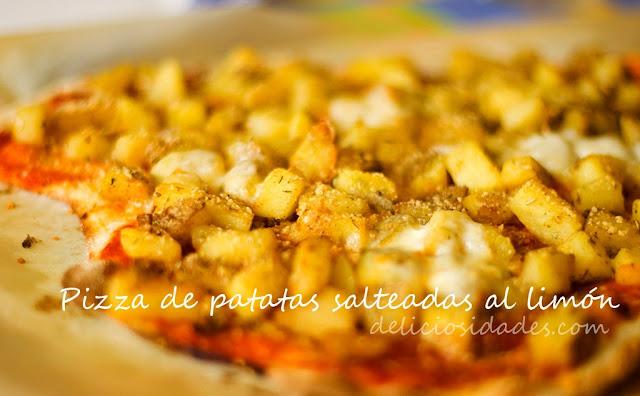deliciosidades - pizza de patatas salteadas al limón