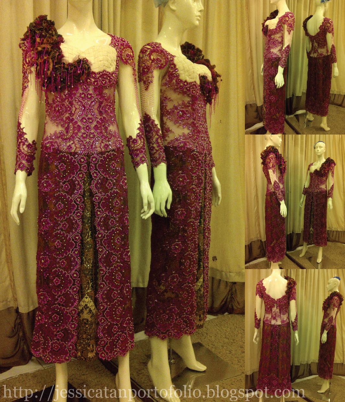 Jessica tan modern kebaya dress