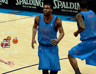NBA 2K13 OKC Thunder Christmas Jersey Patch