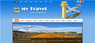 My Travel Blogger Template